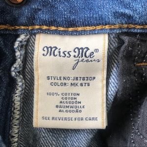Miss Me Jeans - [Miss Me] Distressed Denim Boyfriend Capri